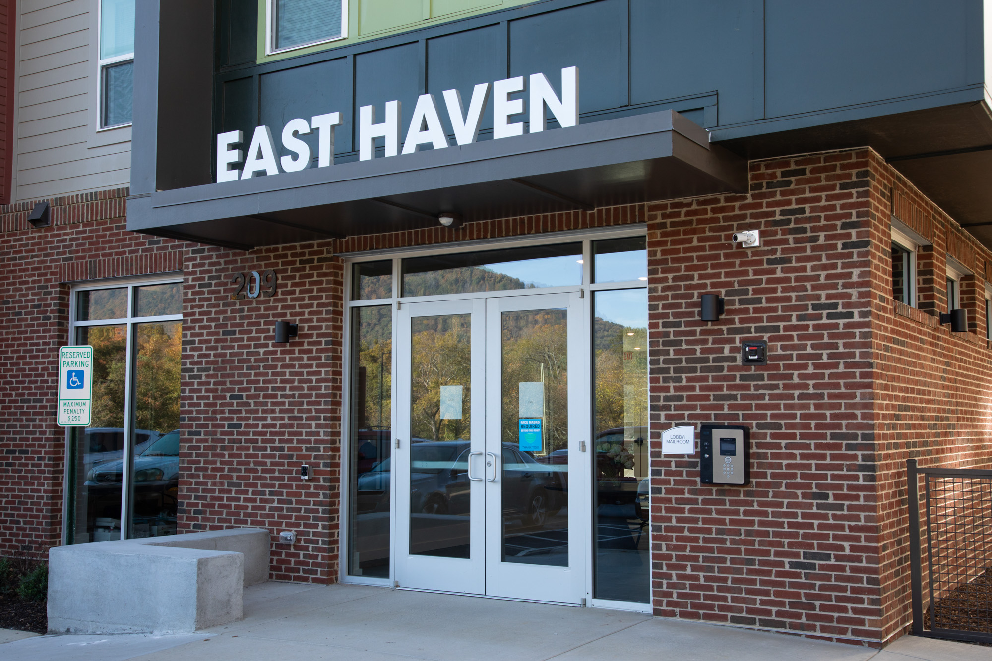 The East Haven sign welcomes guests into the lobby.