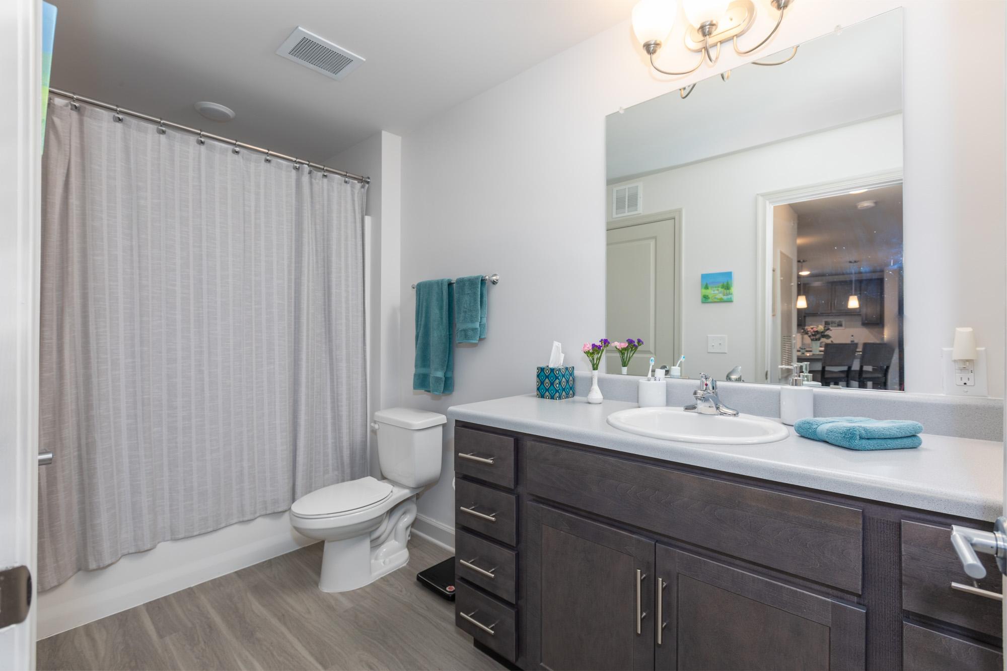 A large, furnished East Haven bathroom.