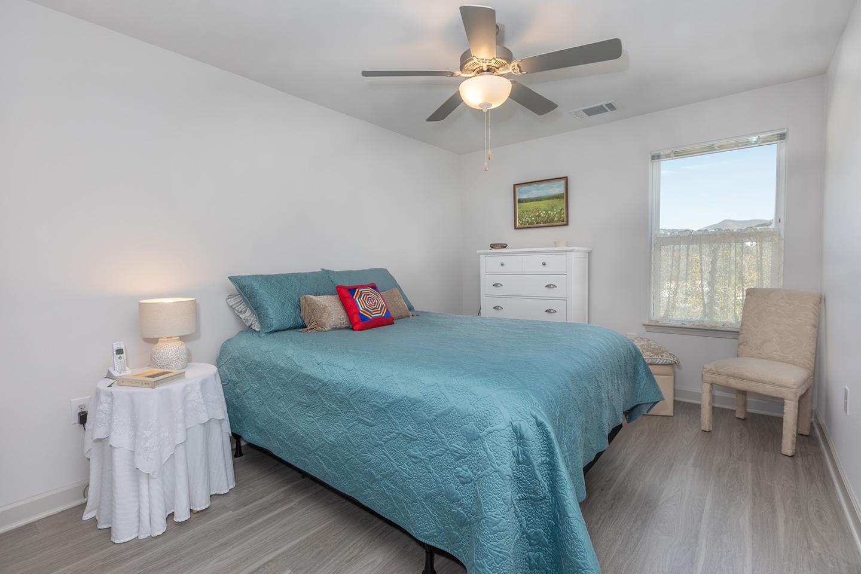 A furnished bedroom at East Haven.